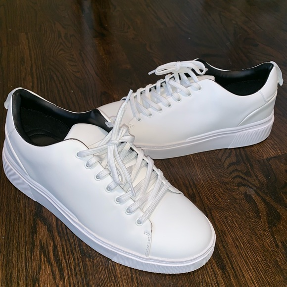 Zara Shoes | Zara Mens White Sneakers